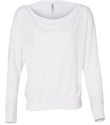 BELLA 8850 Womens Long Sleeve Dolman Top WHITE