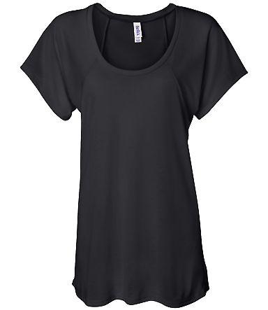 BELLA 8801 Womens Jersey Flowy Shirt BLACK