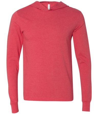 BELLA+CANVAS 3512 Unisex Jersey Hooded T-Shirt HEATHER RED