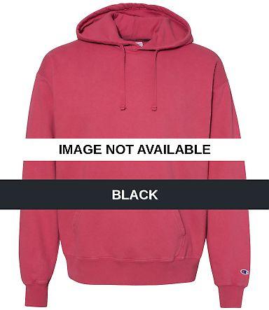 Champion Clothing CD450 Garment Dyed Hooded Sweats Black