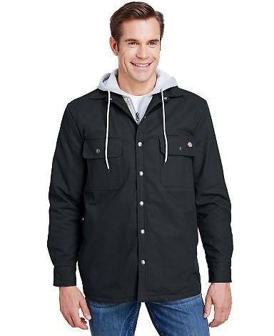 Dickies TJ203 Men's Hooded Duck Quilted Shirt Jack BLACK