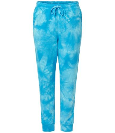 Independent Trading Co. PRM50PTTD Tie-Dyed Fleece  Tie Dye Aqua Blue