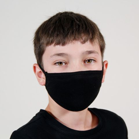 FM21Y Tultex Youth Flat Face Mask Black