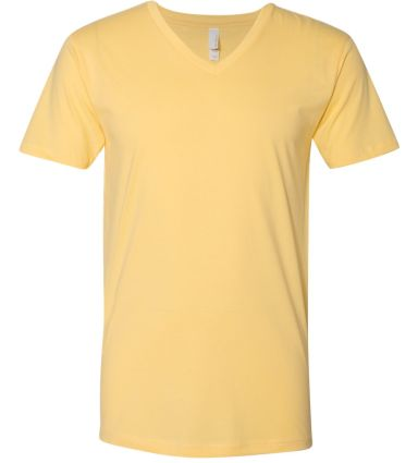 Next Level 3200 Fitted Short Sleeve V BANANA CREAM