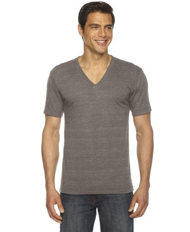 American Apparel TR461 Unisex Tri-Blend V-Neck Tri Coffee