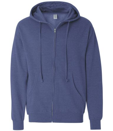 SS4500Z - Independent Trading Co. Basic Full Zip H Heather Blue