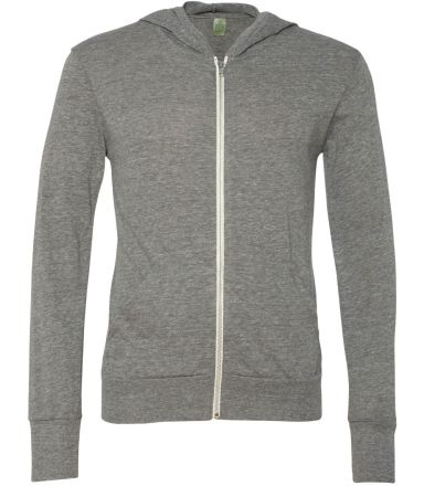 AA1970 Alternative Apparel Unisex Eco Zip Up Hoodi ECO GREY