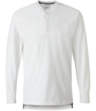 J. America - Vintage Brushed Jersey Henley - 8244 Antique White