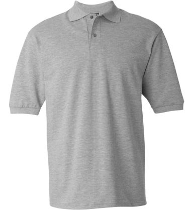 440 Jerzees Adult Ring-Spun Cotton Pique Polo Athletic Heather