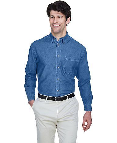8960 UltraClub® Men's Cypress Denim Button up Shi INDIGO