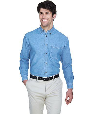 8960 UltraClub® Men's Cypress Denim Button up Shi LIGHT BLUE