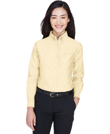 8990 UltraClub® Ladies' Classic Wrinkle-Free Blen BUTTER