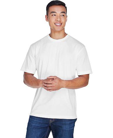 8400 UltraClub® Men's Cool & Dry Sport Mesh Perfo WHITE