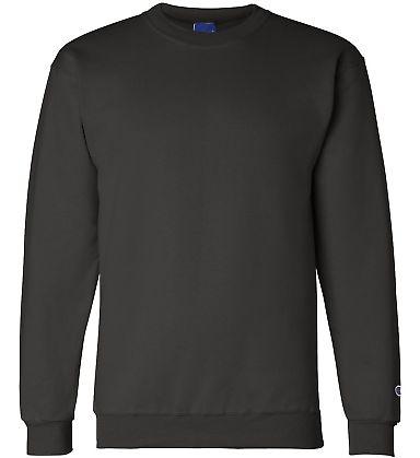 S600 Champion Logo Double Dry Crewneck Pullover sw Black