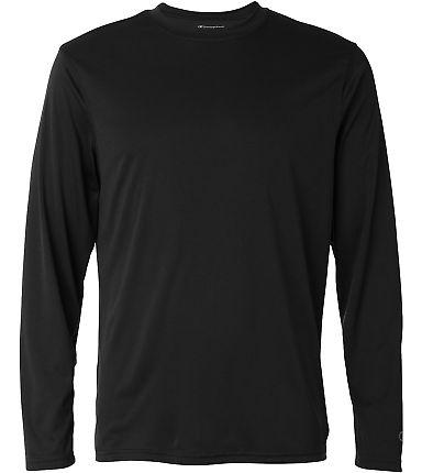 CW26 Champion Logo Performance Long-Sleeve T-Shirt Black