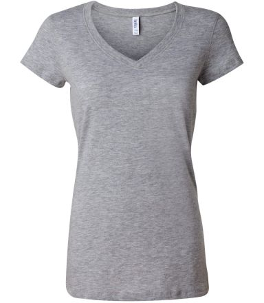 BELLA 6005 Womens V-Neck T-shirt ATHLETIC HEATHER