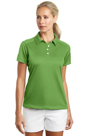 Nike Golf Ladies Dri FIT Pebble Texture Polo 35406 Chlorophyll