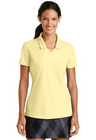 354067 Nike Golf Ladies Dri FIT Micro Pique Polo  Cornsilk