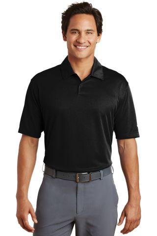 Nike Golf Dri FIT Pebble Texture Polo 373749 Black