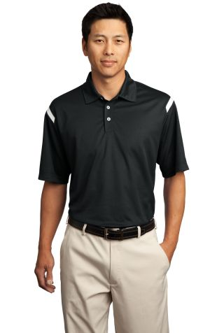 Nike Golf Dri FIT Shoulder Stripe Polo 402394 Black/White