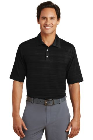 Nike Golf Elite Series Dri FIT Heather Fine Line B Black