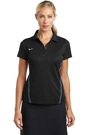 Nike Golf Ladies Dri FIT Sport Swoosh Pique Polo 4 Black