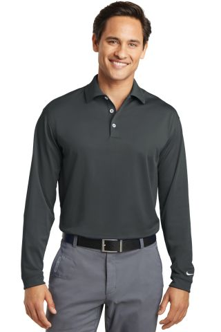 Nike Golf Long Sleeve Dri FIT Stretch Tech Polo 46 Anthracite