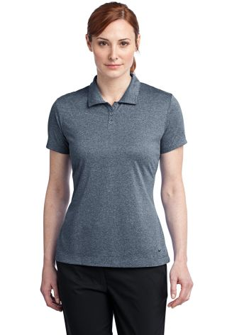 Nike Golf Ladies Dri FIT Heather Polo 474455 Monsoon Hthr