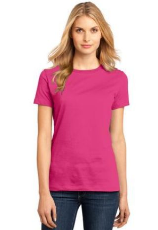 District Made 153 Ladies Perfect Weight Crew Tee DM104L Catalog