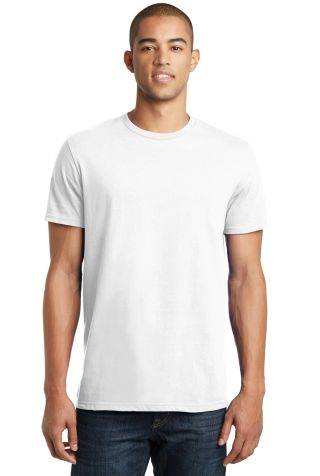 District Young Mens Concert Tee DT5000 White