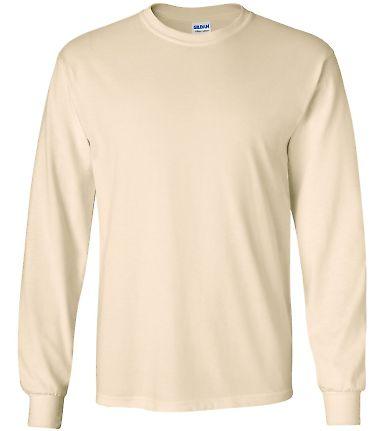 2400 Gildan Ultra Cotton Long Sleeve T Shirt  NATURAL