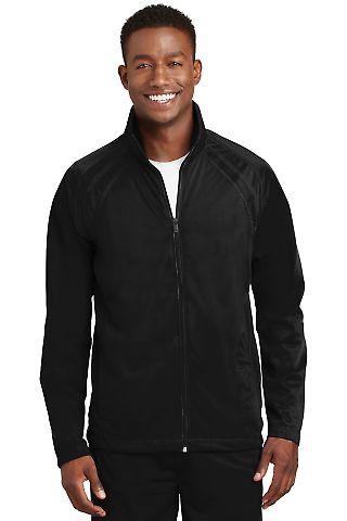 Sport Tek Tricot Track Jacket JST90 Black/Black