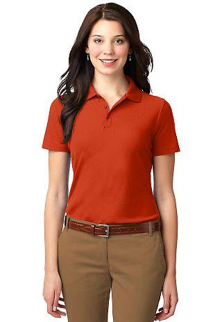 Port Authority Ladies Stain Resistant Polo L510 Autumn Orange