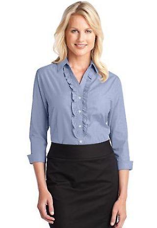 Port Authority Ladies Crosshatch Ruffle Easy Care Shirt L644 Catalog