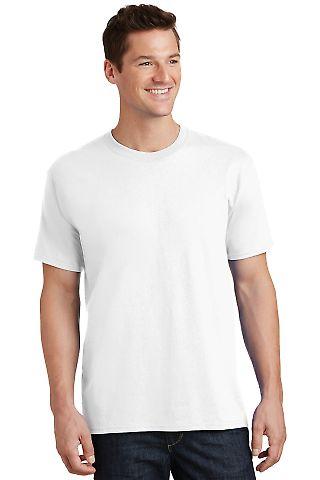 Port  Company 5.4 oz 100 Cotton T Shirt PC54 White