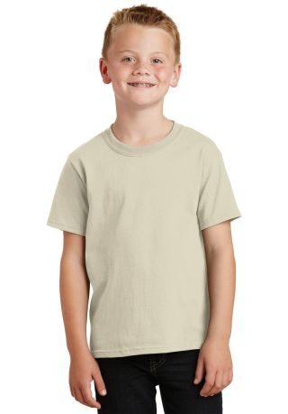 Port  Company Youth 54 oz 100 Cotton T Shirt PC54Y Natural
