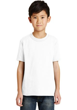 Port  Company Youth 5050 CottonPoly T Shirt PC55Y White