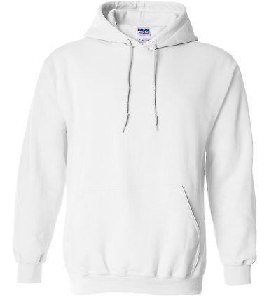 18500 Gildan Heavyweight Blend Hooded Sweatshirt WHITE
