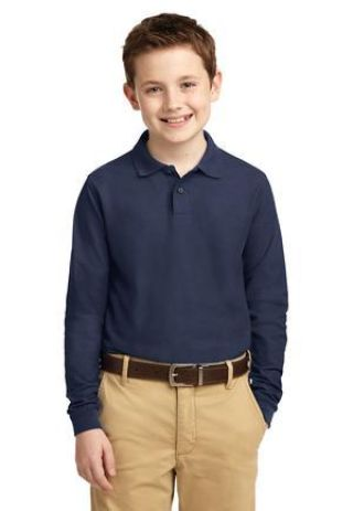 Port Authority Youth Long Sleeve Silk Touch153 Polo Y500LS Catalog