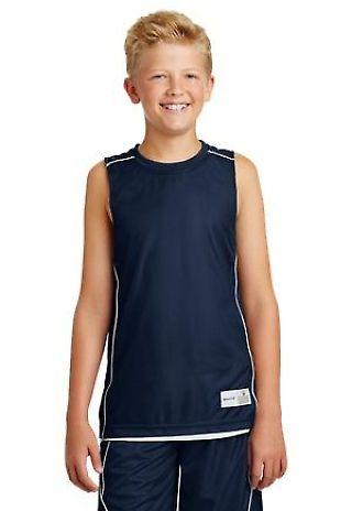 Sport Tek Youth PosiCharge Mesh153 Reversible Sleeveless Tee YT555 Catalog