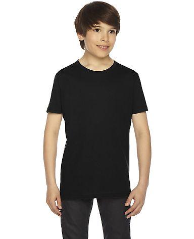 2201 American Apparel Unisex Youth Fine Jersey S/S BLACK