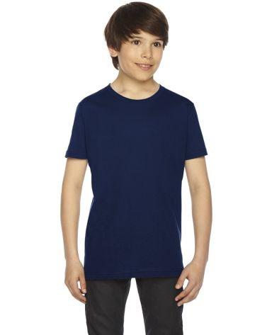 2201 American Apparel Unisex Youth Fine Jersey S/S NAVY