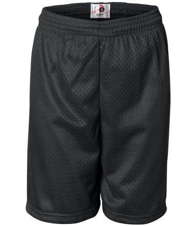2207 Badger Youth Mesh/Tricot 6-Inch Shorts Black