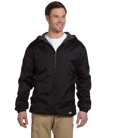 33237 Dickies Adult Fleece-Lined Ripstop Jacket BLACK