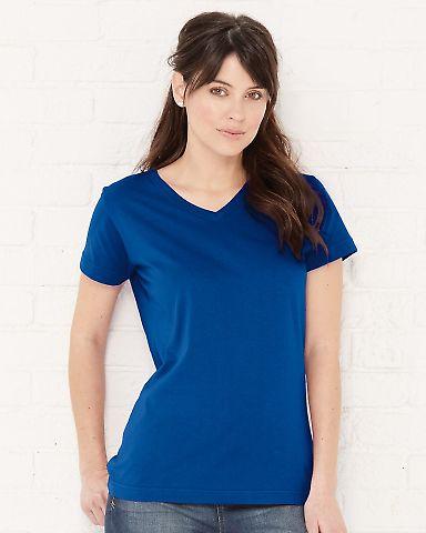 3507 LA T Ladies V-Neck Longer Length T-Shirt Catalog