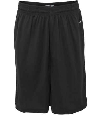4119 Badger Adult B-Core Performance Shorts With P Black