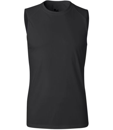 4130 Badger Sleeveless B-Dry Tee Black