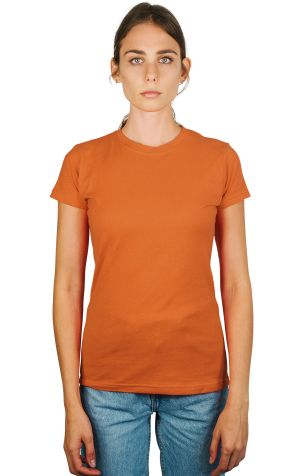 0213 Tultex Juniors Tee with a Tear-Away Tag Texas Orange (Discontinued)
