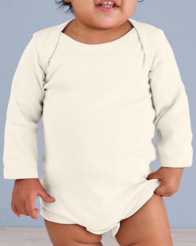 4411 Rabbit Skins Infant Baby Rib Long-Sleeve Cree NATURAL