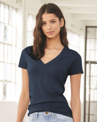 BELLA 6035 Womens Deep V-Neck T-shirt Catalog